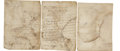 Military & Patriotic:Foreign Wars, Antonio Elosúa Two Autograph Letters Signed and One Autograph Document Signed. ...