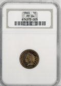 Proof Indian Cents, 1863 1C PR64 NGC....