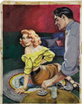 Pulp, Pulp-like, Digests, and Paperback Art, AMERICAN ILLUSTRATOR (20th Century). Thrill Me Again, 1951.Gouache on board. 18 x 14 in.. Not signed. ... (Total: 2 Items)