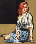 Paintings, JAMES BENTLEY (American 20th Century). No Nice Girl, 1959. Gouache on board. 12 x 10 in.. Not signed. ... (Total: 2 Items)