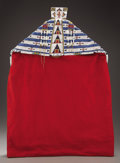 American Indian Art:Beadwork and Quillwork, A SOUTHERN CHEYENNE PICTORIAL BEADED HIDE AND CLOTH BABY CARRIER.c. 1880. ...