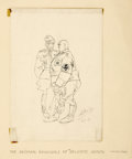 Mainstream Illustration, ARTHUR SZYK (American 1894 - 1951). The German Generals ofDelicate Health, 1941. Ink on paper. 6 x 8 in.. Signed lower...