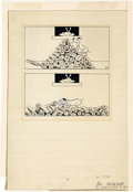 Paintings, AD REINHARDT (American 1913 - 1957). No title. Ink on paper. 8 x 7 in.. Signed lower right. ...