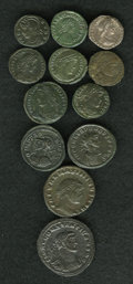 Ancients:Ancient Lots  , Ancients: Lot of twelve Roman Imperial coins, mostly late Romanbronzes.... (Total: 12 coins)
