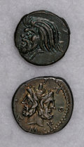 Ancients:Ancient Lots  , Ancients: Lot of two miscellaneous ancient coins.... (Total: 2coins)