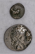 Ancients:Ancient Lots  , Ancients: Lot of two Greek AR.... (Total: 2 coins)