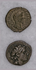 Ancients:Ancient Lots  , Ancients: Lot of two miscellaneous ancient silver coins.... (Total: 2 coins)
