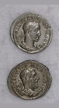 Ancients:Ancient Lots  , Ancients: Lot of two 3rd century denarii.... (Total: 2 coins)
