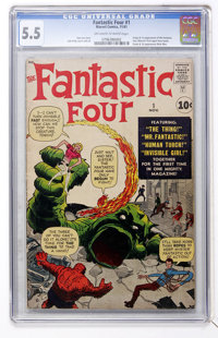 Fantastic Four #1 (Marvel, 1961) CGC FN- 5.5 Off-white to white pages