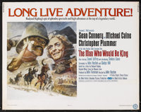 "The Man Who Would Be King (Columbia, 1975). Half Sheet (22"" X 28""). Adventure. Starring Sean Connery, Michael..."