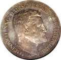 German States:Reuss-Greiz, German States: Reuss-Obergreiz. Heinrich XXIV 3 Mark 1909A, KM130,Proof 65 NGC, deeply toned and extremely attractive, a selectexample of...