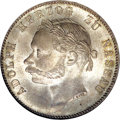 German States:Nassau, German States: Nassau. Adolph Taler 1864, KM-C64, MS65 NGC, soft gray and gold patina, very scarce grade for this commemorative type markin...