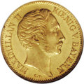 German States:Bavaria, German States: Bavaria. Maximilian II gold Ducat 1856-CV, KM457,MS61 NGC, prooflike luster in the legends, numerous small surfacemarks....