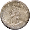 Australia: , Australia: George V Sixpence 1914, KM25, MS64 NGC, lovely deepviolet and gray patina over problem-free surfaces. Very scarce thisnice...