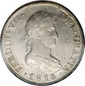 Chile: , Chile: Ferdinand VII 8 Reales 1813-FJ, KM80, MS61 NGC, awell-struck coin with light original toning, scarce and desirablegrade....