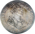 German States:Augsburg, German States: Augsburg. Ferdinand III Taler 1641, Davenport 5039,KM77, MS63 NGC, handsome pewter gray toning and very sharp details,a cl...