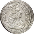 German States:Bavaria, German States: Bavaria. Maximilian II Emanuel 15 Kreuzer 1697,KM129.2, MS62 NGC, well-struck and lustrous, scarce grade for thisera....