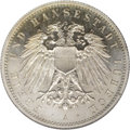 German States:Lubeck, German States: Lubeck. 2 Mark 1912A, KM212, Proof 65 NGC, a Gemexample with flashy reflective surfaces....