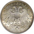 German States:Lubeck, German States: Lubeck. Free City 2 Mark 1911A, KM212, MS65 NGC,fully brilliant with attractive, original gold and orange patina,very scar...