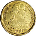 Colombia: , Colombia: Carlos IV gold 2 Escudos 1791-SF Popayan, KM51.2, nicelustrous XF, boldly struck with no adjustment marks, just a fewsmall...