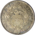 Chile: , Chile: Republic Peso 1862, KM129, AU55 PCGS, lightly toned withconsiderable underlying mint luster. Very scarce type in gradesabo...