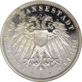 German States:Lubeck, German States: Lubeck. 3 Mark 1910A, KM215, Proof 65 Cameo NGC,fully brilliant, some small areas of toning emerging on theobverse....