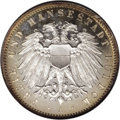 German States:Lubeck, German States: Lubeck. 2 Mark 1911A, KM212, Proof 66 Cameo NGC, atrue Gem example with brilliant mirror surfaces and superb goldenpatina ...