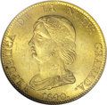 Colombia: , Colombia: Republica de Nueva Granada gold 16 Pesos 1840-RS Bogota,KM94.1, MS63 NGC, a lovely coin with full original mint luster,ver...