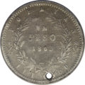 Colombia: , Colombia: Estados Unidos Peso 1863 Popayan, KM139.2, Ex: SchuckmannCollection Lot 867, VG Details NCS, holed with light graffiti.Ext...
