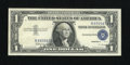Error Notes:Shifted Third Printing, Fr. 1621 $1 1957B Silver Certificate. About Uncirculated.. The third printing is shifted two characters into the portrait....