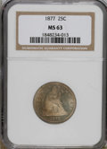 Seated Quarters: , 1877 25C MS63 NGC. NGC Census: (35/192). PCGS Population (32/196).Mintage: 10,911,710. Numismedia Wsl. Price for NGC/PCGS ...