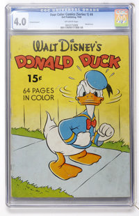 Four Color (Series One) #4 Donald Duck - 15 Cent Cover (Dell, 1940) CGC VG 4.0 Off-white pages