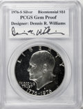 Proof Eisenhower Dollars, 1976-S $1 Silver, Type One, Gem Proof PCGS. Bicentennial Designer:Dennis R. Williams. PCGS Population (43/285). NGC Census...