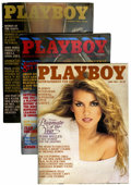 Magazines:Miscellaneous, Playboy Complete 1981-90 Group of 120 (HMH Publishing, 1981-90)Condition: Average VF/NM.... (Total: 120 Items)