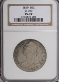 Bust Half Dollars: , 1819 50C VG10 NGC. O-109. NGC Census: (1/279). PCGS Population(2/254). Mintage: 2,208,000. Numismedia Wsl. Price for NGC/...