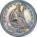 Seated Quarters, 1855 25C Arrows MS64 PCGS....