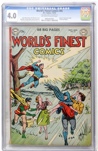 World's Finest Comics #65 (DC, 1953) CGC VG 4.0 Off-white to white pages