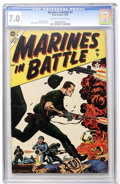 Golden Age (1938-1955):War, Marines in Battle #2 (Atlas, 1954) CGC FN/VF 7.0 Off-white to whitepages....