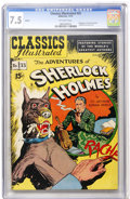 Golden Age (1938-1955):Classics Illustrated, Classics Illustrated #33 Adventures of Sherlock Holmes HRN 89 Ed. 4B (Gilberton, 1951) CGC VF- 7.5 Off-white pages....