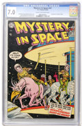 Golden Age (1938-1955):Science Fiction, Mystery in Space #21 (DC, 1954) CGC FN/VF 7.0 Cream to off-whitepages....