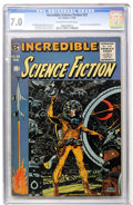 Golden Age (1938-1955):Science Fiction, Incredible Science Fiction #33 (EC, 1956) CGC FN/VF 7.0 Off-whiteto white pages....