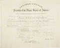 Autographs:U.S. Presidents, Abraham Lincoln Document Signed...