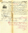 Transportation, R. M. Forbes & Co., La Vaca, Texas, Schooner SophiaGodfrey Bill of Lading,...