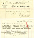 Miscellaneous, Lavaca, Texas: Two Merchandise Receipts, February 1870,... (Total:2 Items)