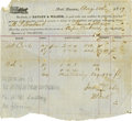 Transportation, Port Lavaca 1859 Baughn & Walker Receipt for Merchandise,...