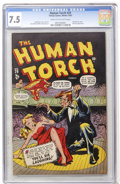 Golden Age (1938-1955):Superhero, The Human Torch #29 (Timely, 1947) CGC VF- 7.5 Cream to off-white pages....