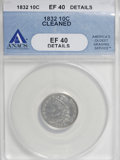 Bust Dimes: , 1832 10C --Cleaned--ANACS. XF40 Details. NGC Census: (3/215). PCGSPopulation (13/215). Mintage: 522,500. Numismedia Wsl. Pr...