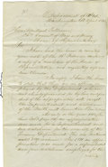 Autographs:Statesmen, Daniel Webster Manuscript Letter Signed ...