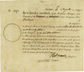 Autographs:Statesmen, Robert Morris Signed Delaware and Schuylkill Canal NavigationCompany Stock Certificate. ...