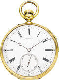 Timepieces:Pocket (pre 1900) , Charles Frodsham Rare Small Gold 1/4 Hour Repeater, circa 1880. ...